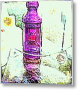 The Purple Medicine Bottle Metal Print