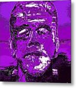 The Purple Monster Metal Print