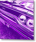 The Purple People Eater - 1970 Plymouth Gtx Metal Print