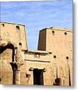 The Pylons Of Edfu Temple Metal Print