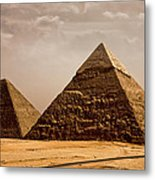 The Pyramids Of Giza Metal Print