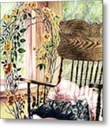 the QUEEN is on her throne Metal Print