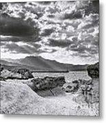 The Queen's Head Geological Park. Toned Metal Print