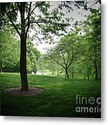 The Quiet Park Metal Print