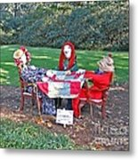 The Quilting Bee Scarecrows Metal Print