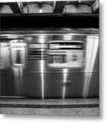 The R Train Nyc Subway Metal Print