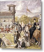 The Races At Longchamp In 1874 Metal Print