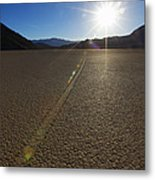 The Racetrack Metal Print