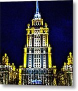 The Raddison-stalin's Wedding Cake Architecture-in Moscow-russia Metal Print