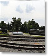 The Railroad From The Series View Of An Old Railroad Metal Print