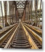 The Rails II Metal Print