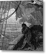 The Rain Begins To Fall Metal Print by Gustave Dore
