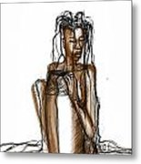 The Rain Queen Metal Print by Khaya Bukula