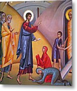 the raising of Lazarus from the dead Metal Print