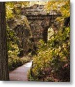 The Ramble Stone Arch Metal Print