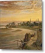 The Ravee River, From India Ancient Metal Print
