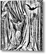 The Raven Nevermore Illustration Engraving Metal Print