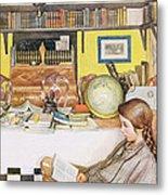 The Reading Room, Pub. In Lasst Licht Metal Print