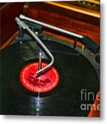 The Record Player Metal Print