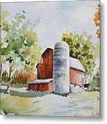 The Red Barn Metal Print by Bobbi Price