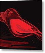 The Red Bird Metal Print