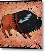The Red  Buffalo Fresco Metal Print