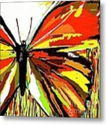 The Red Butterfly Metal Print