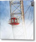 The Red Capsule Metal Print