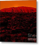 The Red Center D Metal Print