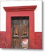 The Red Door Metal Print