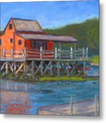 The Red Fish House Metal Print