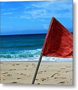 The Red Flag Metal Print