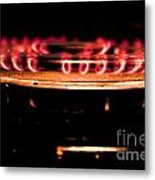 The Red Flame Metal Print by Aqil Jannaty