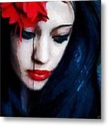 The Red Flower Metal Print