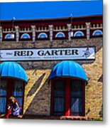 The Red Garter Metal Print