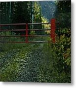 The Red Gate Metal Print