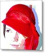 The Red Hat II Metal Print