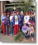 The Red Hat Ladies At The Catfish Plantation Metal Print