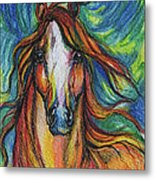 The Red Horse Metal Print