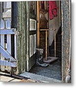 The Red Knit Metal Print