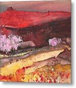 The Red Mountain Metal Print