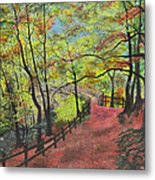 The Red Path Metal Print by Leo Gehrtz