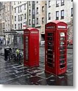 The Red Phone Booth Metal Print