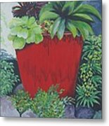 The Red Pot Metal Print