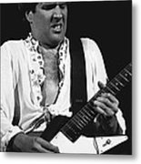 The Red Rocker In Black And White Metal Print