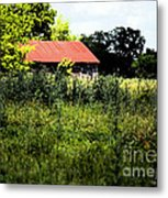 The Red Roof Metal Print