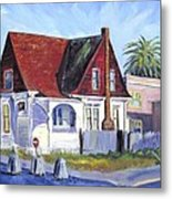 The Red Roof House Metal Print