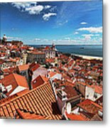 The Red Roofs Of Lisbon #2 Metal Print