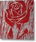 The Red Rose Metal Print by Marita McVeigh