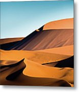 The Red Sand Dunes In Namibia Metal Print